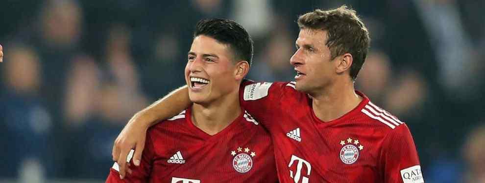 James Rodríguez seguirá hasta junio en el Bayern de Múnich. O esa es la sensación que desprende el colombiano, que ya trabaja con el grupo después de su lesión, que le ha mantenido más de un mes lejos del campo.