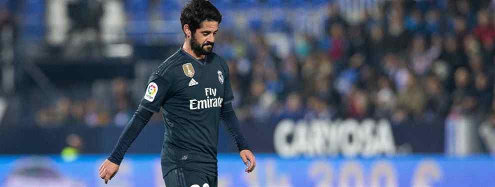 Isco Alarcón tiene el petate junto a la puerta de salida del Real Madrid.  El español, señalado por todos, desde el entrenador, vestuario y presidente, no seguirá de blanco y busca la mejor salida.