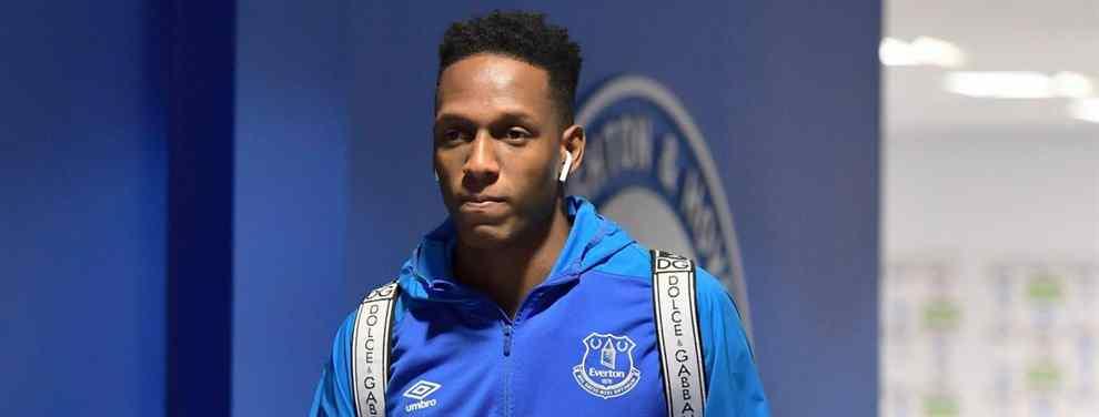 Yerry Mina rechaza una oferta para salir del Everton
