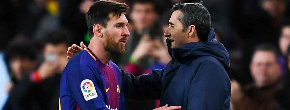 ¡Saltan chispas!: Tremenda enganchada entre Messi y Valverde (y calientan el Barça-Real Madrid)