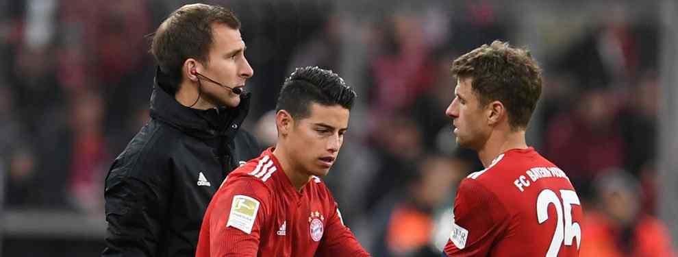 El futuro de James Rodríguez sigue dando de que hablar. El colombiano está a disgusto en el Bayern de Múnich, donde tiene claro que no seguirá más allá de junio.