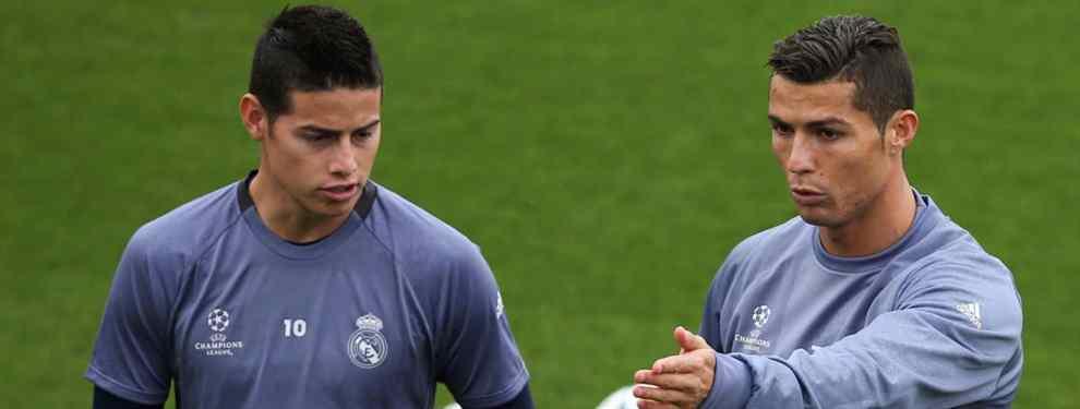 El feo de Cristiano Ronaldo a James Rodríguez que arrasa la Juventus, el Real Madrid y el Bayern
