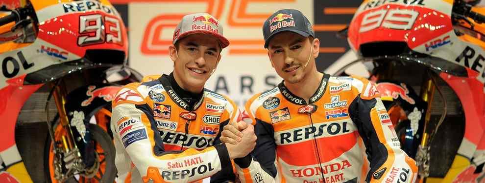 Valentino Rossi manda a su amigo Uccio a calentar el mal rollo entre Marc Márquez y Jorge Lorenzo