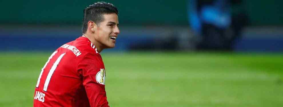 James Rodríguez cuenta sus últimos meses en Múnich.  El colombiano, cedido a al entidad bávara hasta final de temporada, regresará al Real Madrid a final de curso con un doble desenlace sobre la mesa.