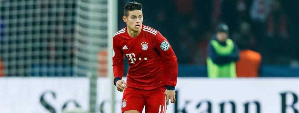 James Rodríguez comienza a aclarar su futuro. El crack del Bayern de Múnich tiene más que decidido salir de Alemania y de la Bundesliga y proba suerte en la Premier League o la Serie A, competiciones que aún no conoce.
