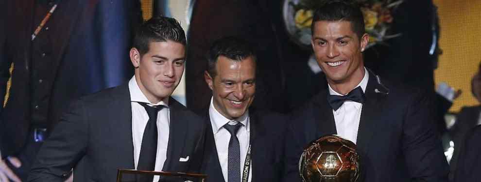 Jorge Mendes (y no es James Rodríguez) aprieta a Florentino con un fichaje bomba para el Real Madrid