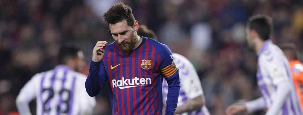 Portazo a Messi: el galáctico que no quiere saber nada del Barça
