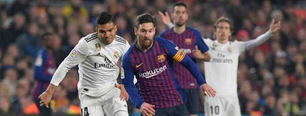 Calabazas al Barça y a Messi. El Real Madrid de Florentino Pérez le ha vuelto a ganar la batalla al club azulgrana en la guerra por encontrar nuevos galácticos para el equipo.