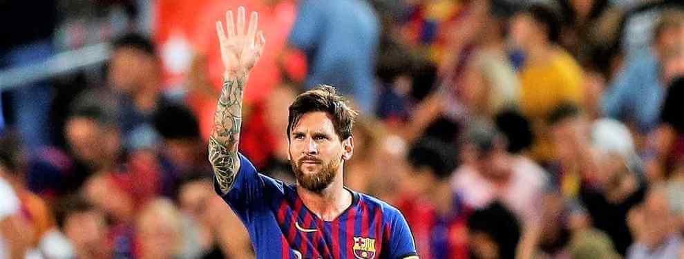 Messi calienta el Real Madrid-Barça con un mensaje bomba a Florentino Pérez