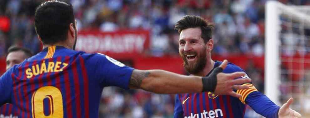 El tapado para el tridente del Barça: Messi y Luis Suárez eligen delantero