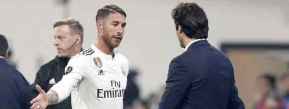 Sergio Ramos es el líder de la plantilla. El capitán tiene la palabra del vestuario y así se lo hace saber a Florentino Pérez y a Santiago Solari cuando tiene ocasión. La última, poco antes del Clásico.