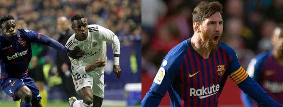 La vacilada de Vinícius a Messi que pone el Clásico en ebullición