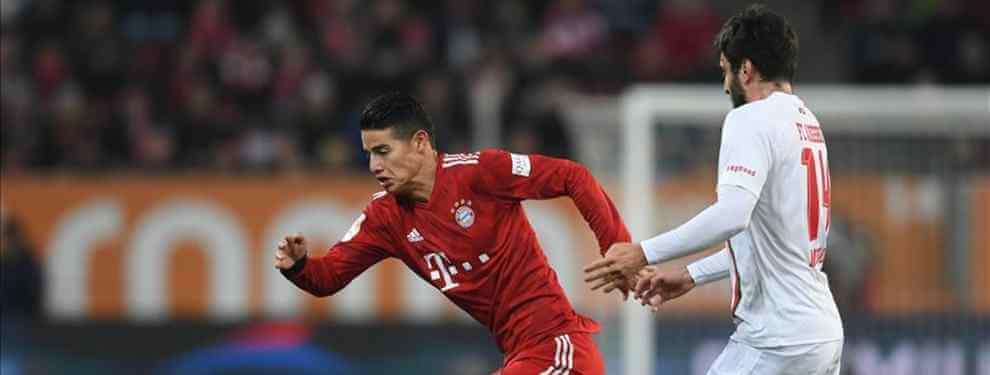 Nueva opción sobre la mesa.  El Bayern de Múnich tiene dos caminos con James Rodríguez: pagar el precio de compra de 42 millones o devolverlo al Real Madrid.