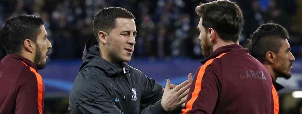 Eden Hazard, sí, o Eden Hazard, no.  La sanción al Chelsea ha removido las entrañas del Real Madrid que ve como el club inglés tensa la cuerda con la venta de Eden.
