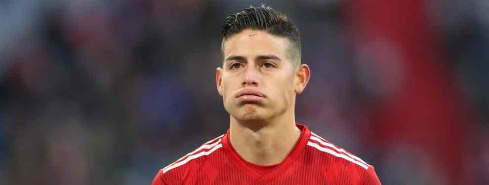 James Rodríguez está ansioso. El astro colombiano no es feliz en el Bayern de Múnich, donde no cuenta para Niko Kovac, y ya se plantea qué hará la temporada siguiente.