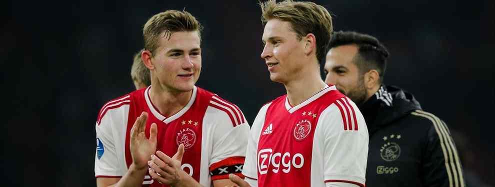 El chivatazo de De Ligt a De Jong que llega a Messi, Florentino Pérez y calienta el Real Madrid-Ajax