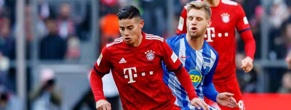 La bomba que destroza a James Rodríguez en el Bayern (y el Real Madrid) está a punto de estallar