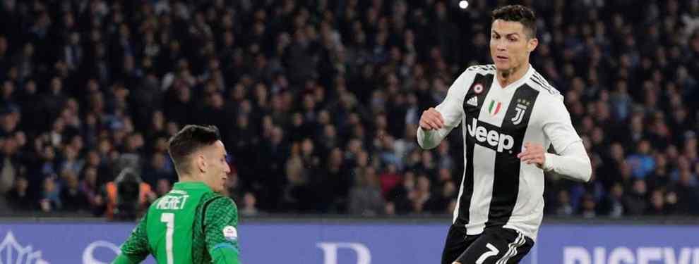 El capo del equipo de Turín, despachado del Real por la puerta de atrás por Florentino Pérez, y al que Sergio Ramos no defendió ante Lopetegui, desmonta el último invento del Madrid.