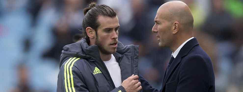 'Zizou' era presentando como nuevo técnico del Real y Bale marcaba perfil evidenciando que el nuevo técnico del Madrid, con quien no terminó nada bien, le resbala.