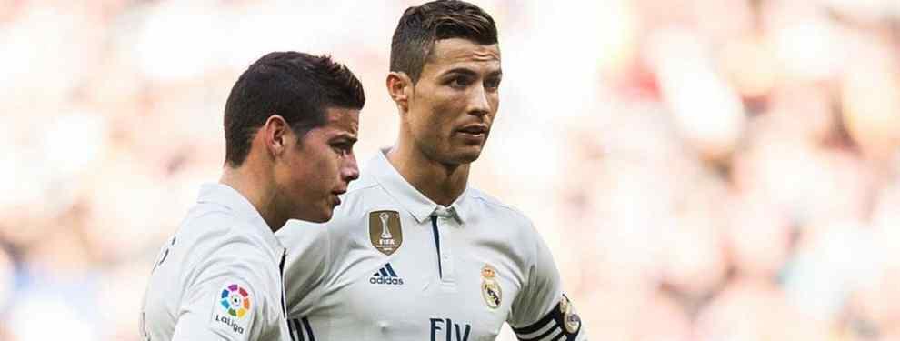Cristiano Ronaldo suelta la bomba James Rodríguez (y sacude a Zidane, Florentino Pérez y el Madrid)