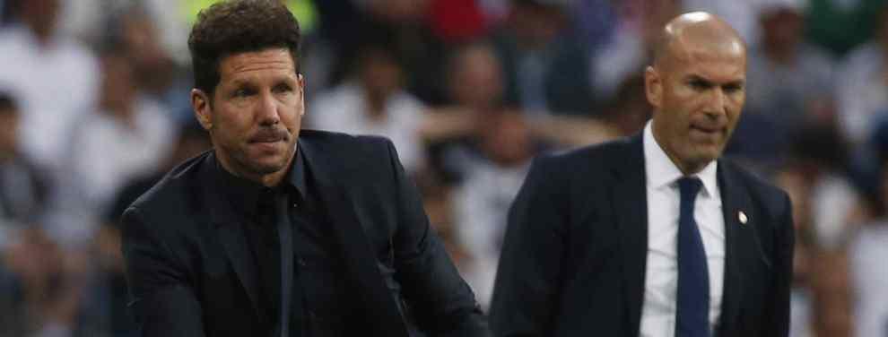 Simeone va a la guerra con Zidane (y Florentino Pérez) por un fichaje tapado (y sorpresa)