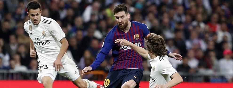 Real Madrid y Barça se matan a golpes, una vez más, para hacerse con los servicios de un nuevo crack. Messi vuelve a enfrentarse a Florentino Pérez y Zidane para llevarse a una estrella.
