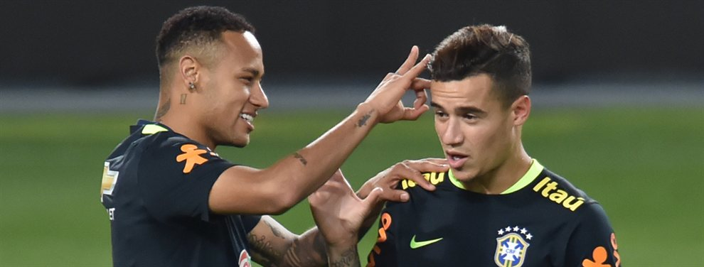 Coutinho como reclamo. El brasileño del Barça está en el punto de mira en el Camp Nou donde tiene ya hasta precio.  El que ponga 100 millones por 'Couti' se lo llevará en vuelto para regalo.