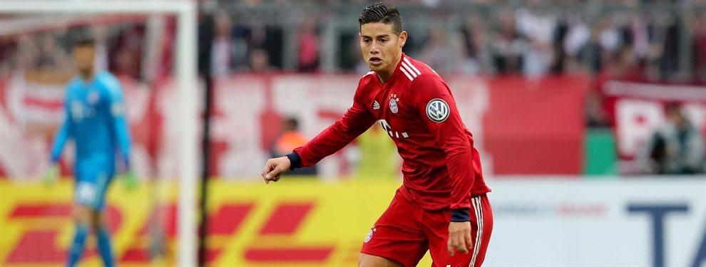 James Rodríguez ha provocado una división interna en el Bayern de Múnich. El colombiano, algo más asentado que en el primer tramo de la temporada, está cedido hasta junio.