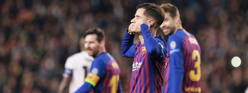 Coutinho volvía a tener otra oportunidad para reivindicarse en el Camp Nou. Valverde confió en él y lo alineó como titular en el partido que enfrentaba al Barça con el Manchester United.