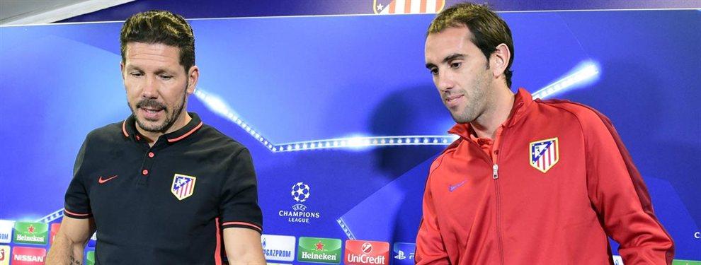 Simeone y el Atlético de Madrid trabajan en encontrar a un sustituto de Diego Godín, que abandonará el club tras casi una década defendiendo los colores rojiblancos.
