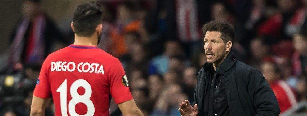El escándalo con Diego Costa que incendia el Atlético de Madrid (y harta a Simeone)