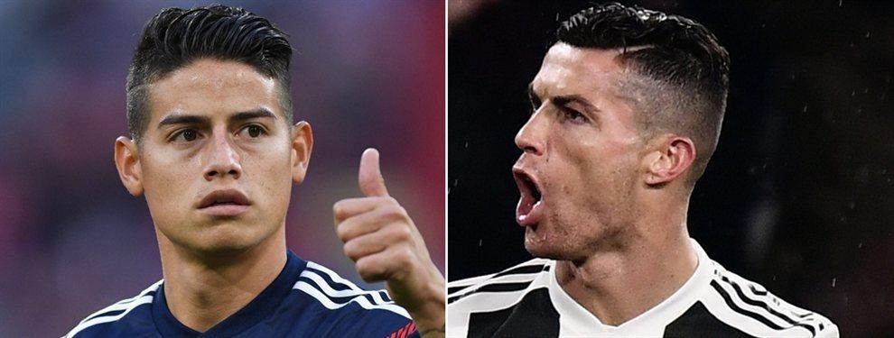 James Rodríguez no figura ni en la lista de candidatos para reforzar a la Juventus de Turín. Cristiano Ronaldo quiere un equipo de galácticos, entre los que no está considerado el colombiano.