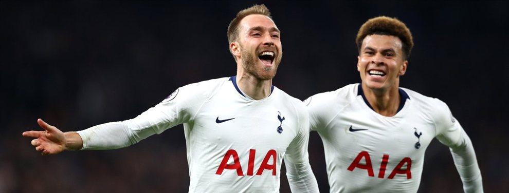 El Tottenham sigue peleando por tratar de renovar el contrato de Christian Eriksen, que finaliza en 2020, y sigue sin llegar a un acuerdo para estirar. Las posibilidades, a día de hoy, son nulas.