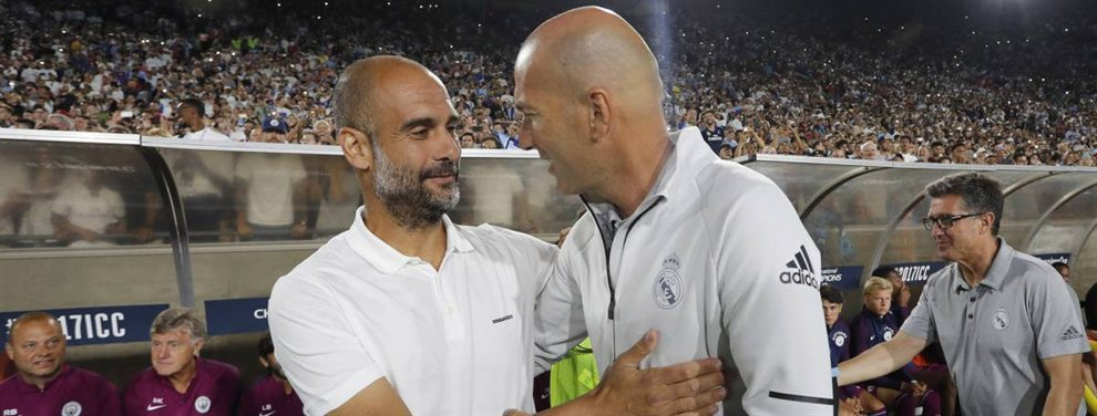 El trueque con Pep Guardiola que Zidane pone sobre la mesa del Manchester City