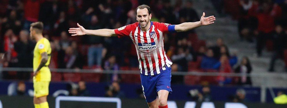 El Atlético de Madrid trabaja en sustituir a Diego Godín, intocable para Simeone, y ya ha cerrado el fichaje de Felipe Monteiro