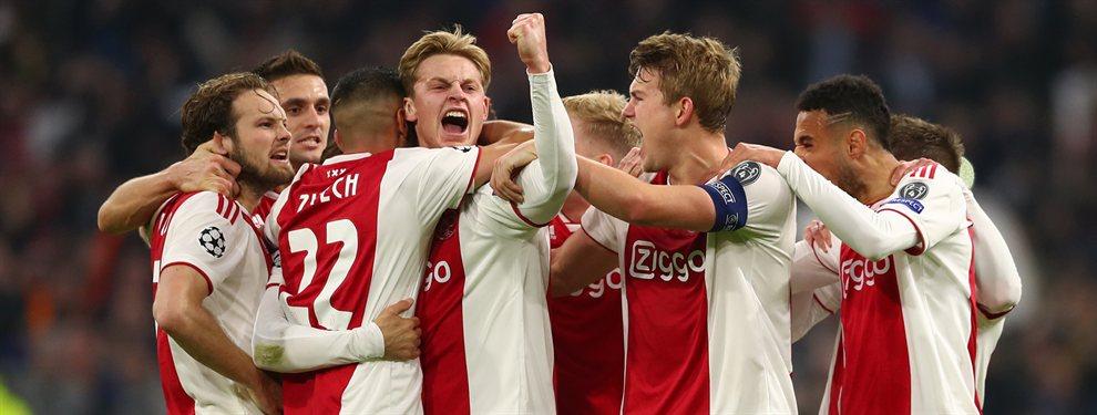 El Real Madrid y el Barça han colisionado en la puja por hacerse con los servicios de Donny Van de Beek, estrella del Ajax