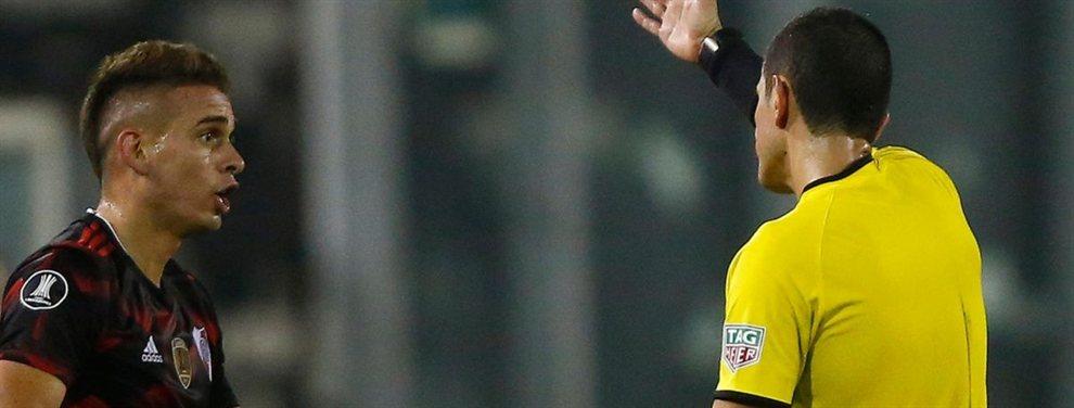 El delantero colombiano podría perderse las dos finales ante Atlético Paranaense por la Recopa Sudamericana.