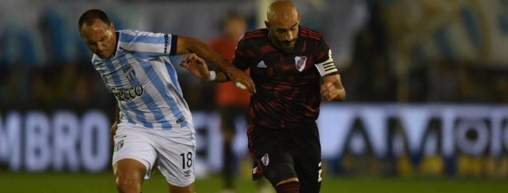 El Muñeco Gallardo mantiene dos dudas para jugar ante el Decano: Ponzio o Zuculini y Palacios o De la Cruz.