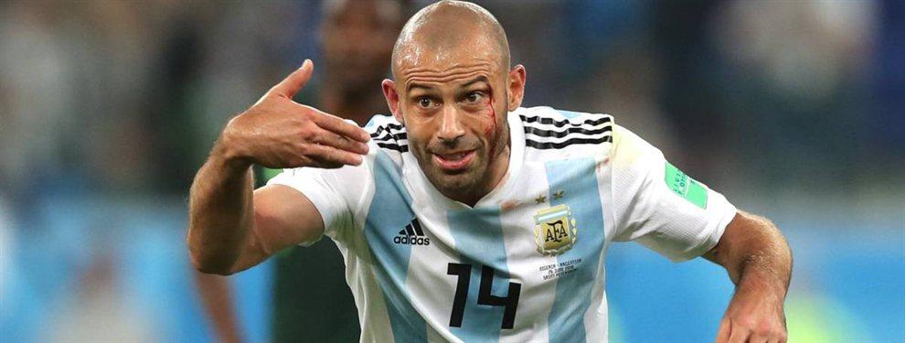 El experimentado volante, Javier Mascherano, podría volver a la Selección Argentina en los Juegos Panamericanos.