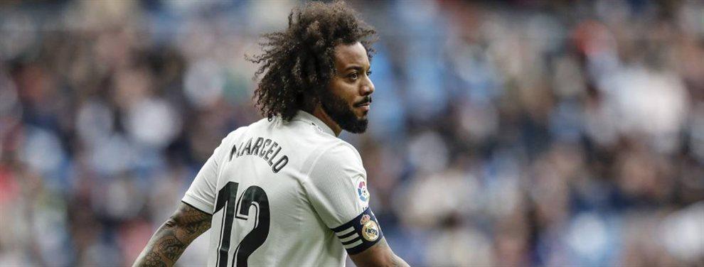 Marcelo ahora no quiere irse y Zidane cuenta con él. Un escándalo que imposibilita el regreso de Achraf Hakimi al Real Madrid