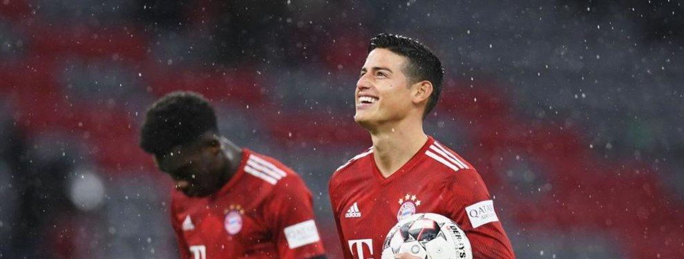 El Bayern de Múnich ya sabe que no podrá contar con James Rodríguez y le ha buscado sustituto.