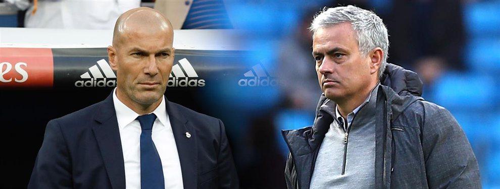Zidane necesitaba saber algo sobre uno de los fichajes que ha pedido y le preguntó a Mourinho.
