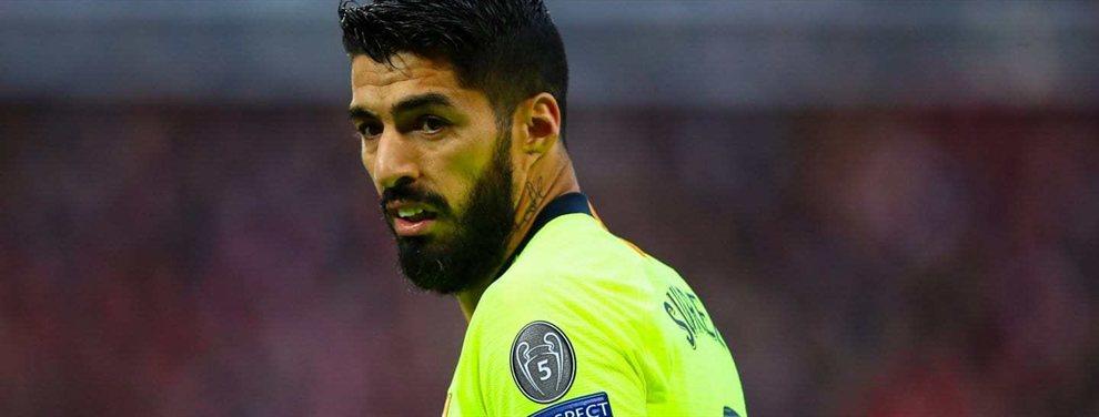 Luis Suárez está fuera. El Barça se lo quiere cargar y ya tiene sustituto