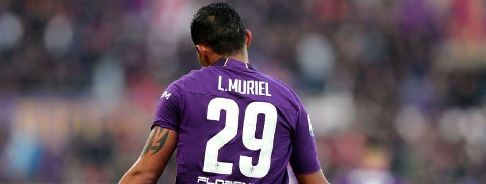 Luis Muriel puede cambiar de equipo en Italia y abandonar la Fiorentina para recalar en el Atalanta, donde coincidiría con Duván Zapata