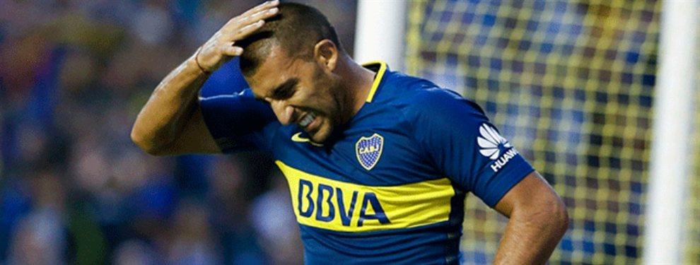 Se confirmó que Wanchope Ábila sufrió un desgarro ante Vélez y se pierde lo que resta del semestre.