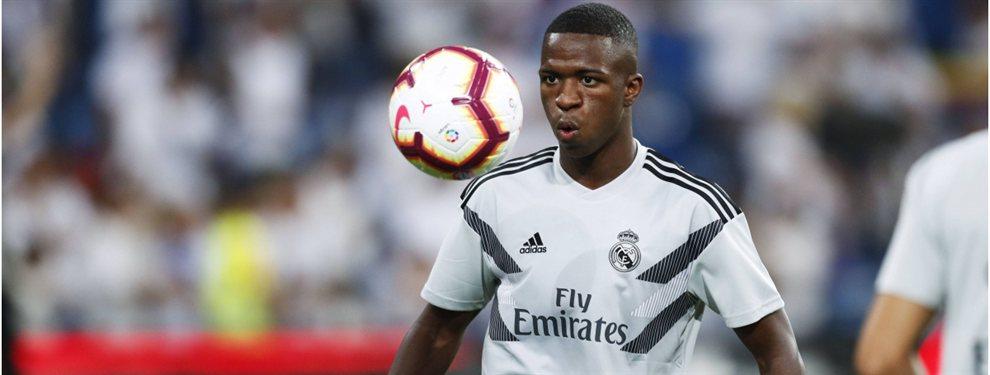 Vinicius quiere saber que planes tienen con él en el Real Madrid. Si Zidane no le garantiza un papel clave, se irá en verano