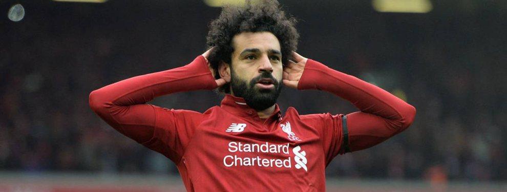 Florentino Pérez no se olvida de Mohamed Salah, y, en caso de que fallara el fichaje de Hazard, iría a por él