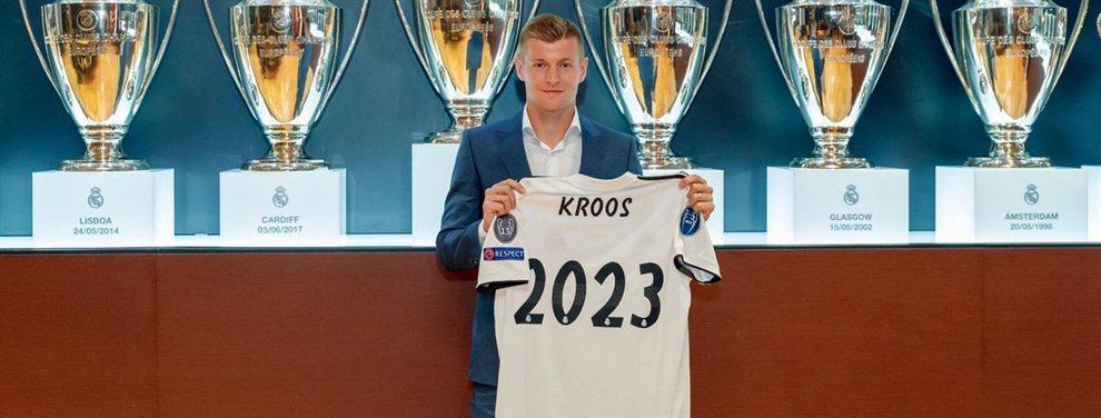 Toni Kroos renovó su contrato con el Real Madrid hasta 2023, pero eso no descarta su salida