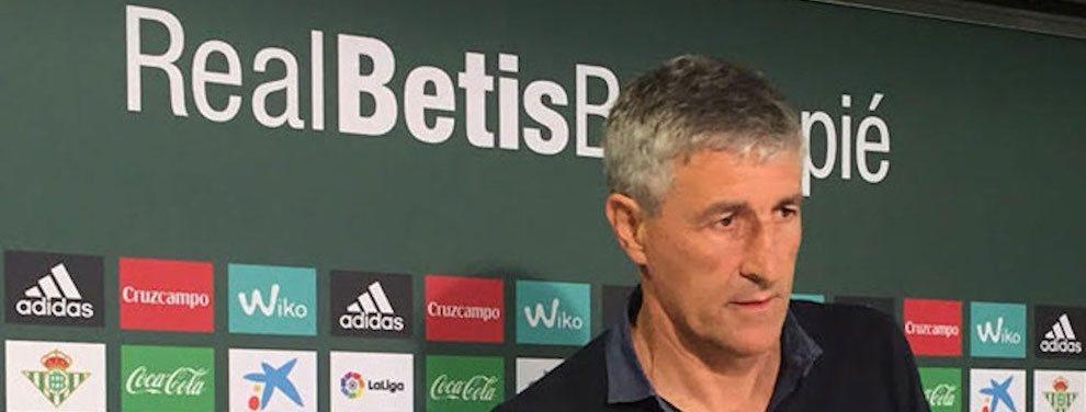 Quique Setién comunica que no seguirá en el banquillo del Betis la próxima temporada. Le gustaría entrenar al Barça.