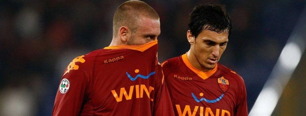 Nicolás Burdisso le ofrecería a Daniele De Rossi jugar en Boca durante seis meses.